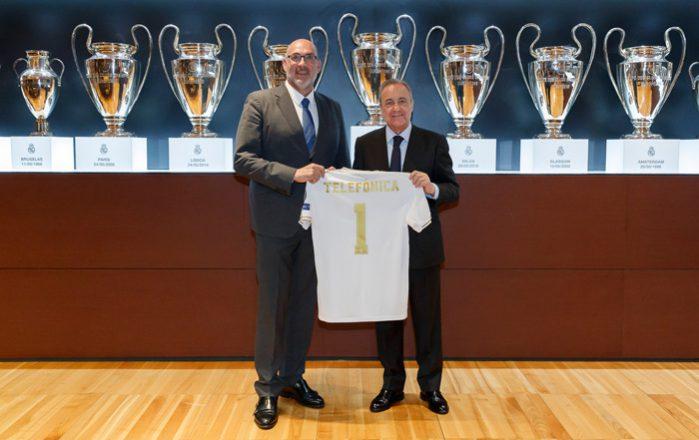 Acuerdo-entre-el-Real-Madrid-y-telefonica-con-Florentino-Perez-y-Emilio-Gayo