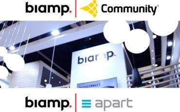 Biamp-compra-Community-loudspeakers-y-apart